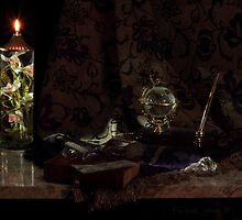 Globe and Oil Lamp by FrankSchmidt