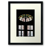 Window With Some Flair Framed Print