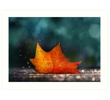 November Shower Art Print