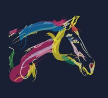 Cool t-shirt, horse Lovely in colours by Go van Kampen