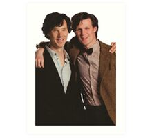 Sherlock and Eleven Art Print
