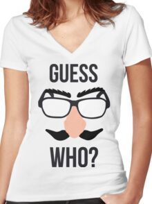 Guess Who? Women's Fitted V-Neck T-Shirt