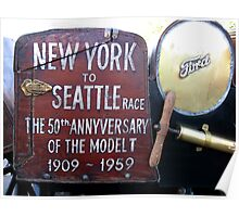 New York to Seattle. Model T anniversary 1909-1959 Poster