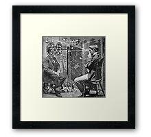Marinetti's Interrogation about War Crimes. Framed Print