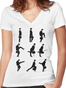 Ministry of Silly Walks Women's Fitted V-Neck T-Shirt