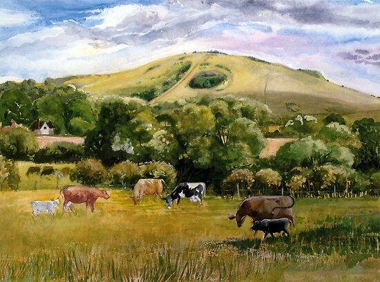 Wolstonbury Hill by HurstPainters