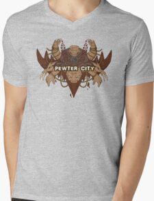 Pewter City Mens V-Neck T-Shirt