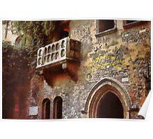 Verona - Juliet's balcony Poster