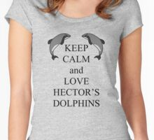 Keep calm and love Hectors dolphins Women's Fitted Scoop T-Shirt