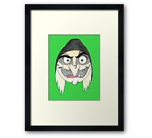 EVILWITCHbubbleHEAD Framed Print