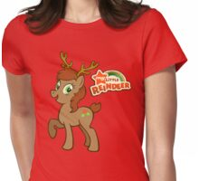 My Little Christmas Reindeer Womens Fitted T-Shirt