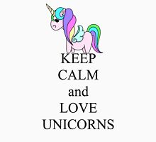 Keep calm and love unicorns Women's Fitted Scoop T-Shirt
