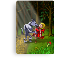 Wolf Kissing Red Riding Hood Canvas Print
