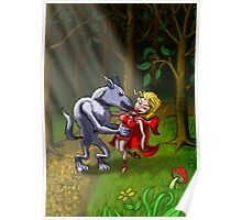 Wolf Kissing Red Riding Hood Poster