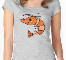 Funny shrimp Women's Fitted Scoop T-Shirt