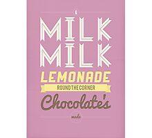 Milk, milk, lemonade... (pink) Photographic Print