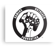 """Humorous """"Gamers Outreach Foundation"""" Design Metal Print"""