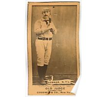 Benjamin K Edwards Collection Roger Connor New York Giants baseball card portrait 001 Poster