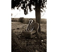 Portrait of the tuba Photographic Print