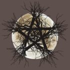 Pentagram and Moon by Renars Slavinskis