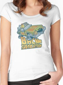 Back to the Vacation! Women's Fitted Scoop T-Shirt