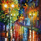 CITY RAIN - LEONID AFREMOV by Leonid  Afremov
