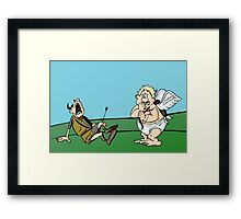 An arrow to the heart.. No wait! Framed Print
