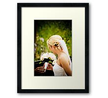 The Bride and her Flowers Framed Print