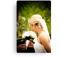 The Bride and her Flowers Canvas Print