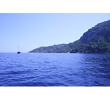 Views from a boat - sea and mountains Photographic Print