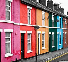 Rainbow Houses by Paul Barnett