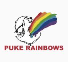 PUKE RAINBOWS TROLL Kids Tee
