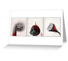 Red Lightness of Being 2 Greeting Card