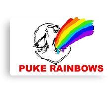 PUKE RAINBOWS TROLL Canvas Print