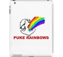 PUKE RAINBOWS TROLL iPad Case/Skin