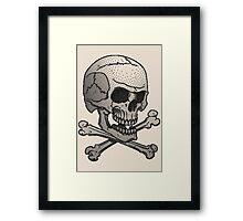 Stipple skull Framed Print
