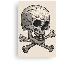 Stipple skull Canvas Print