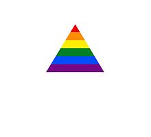 Pride Triangle on White by x-pressions