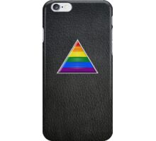 Pride Triangle on Leather iPhone Case/Skin