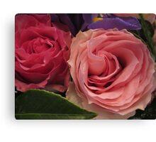 Companion Roses Canvas Print