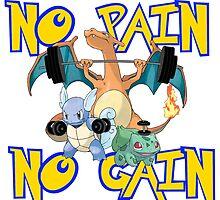No pain no gain Pokemon by Ward Designs
