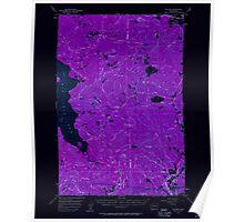 USGS Topo Map Washington State WA Willard 244714 1957 62500 Inverted Poster