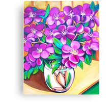 Tibouchina Still Life Canvas Print