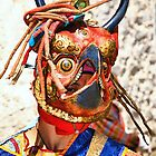 Masked Monk #5, Tashiling Festival, Eastern Himalaya, Central Bhutan by Carole-Anne