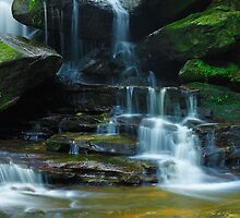 Lower Somersby Falls, New South Wales, Australia by Michael Boniwell