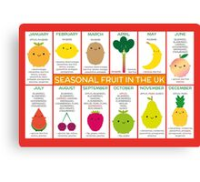 UK Seasonal Fruit Chart Canvas Print