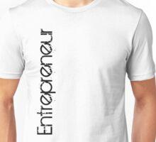Entrepreneur Vertical - Black Grunge Text (Grungy Like) Unisex T-Shirt