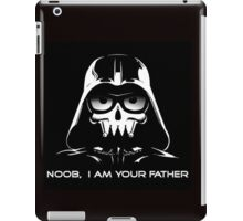"Funny ""Noob, I Am Your Father"" Darth Vader Design iPad Case/Skin"