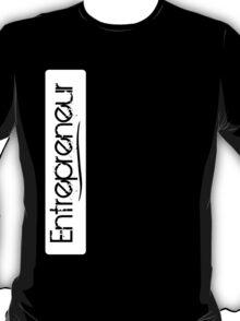 Entrepreneur Vertical Box - Transparent Grunge Text (Grungy Like) T-Shirt
