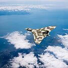 Vulcan over South Wales by Gary Eason